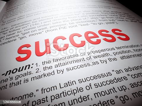 Dictionary, Success, Single Word, Business