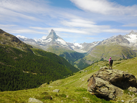 Summer, Activity, Hands in air, Switzerland, Zermatt, Matterhorn