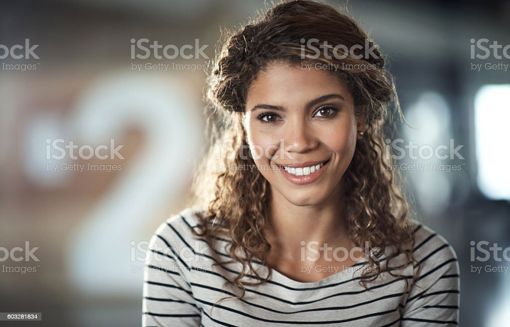 Success gave me this smile stock photo