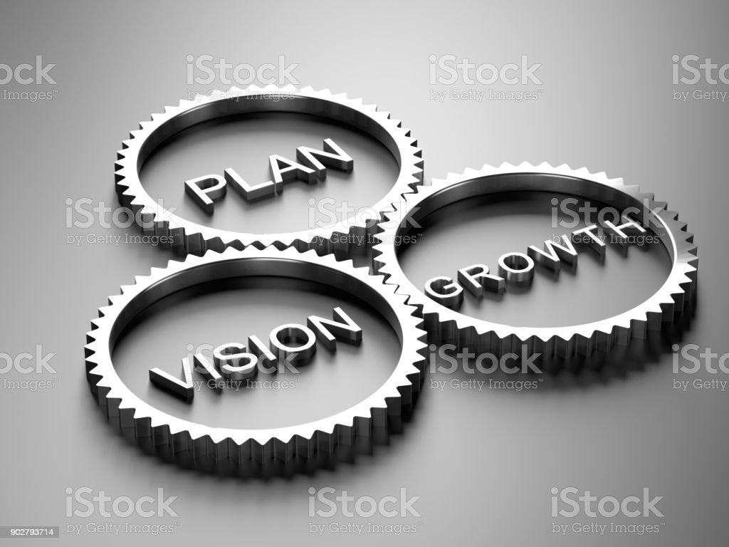 Gear Erfolgskonzept - Plan, Vision, Wachstum – Foto