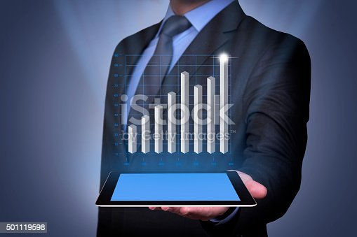 622809570 istock photo Success Graph Conceptual with Tablet 501119598
