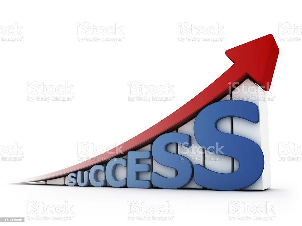success graph royalty-free stock photo