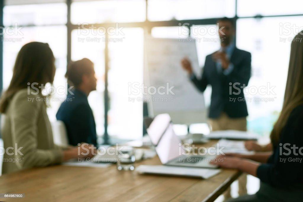 Success happens in the boardroom stock photo