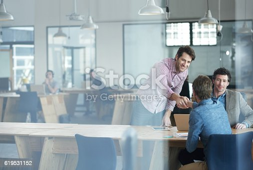 istock Success happens when a team comes together 619531152