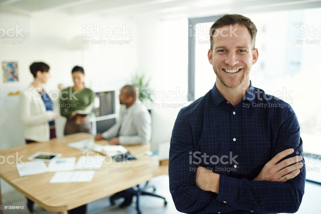 Success happens when you believe in yourself stock photo