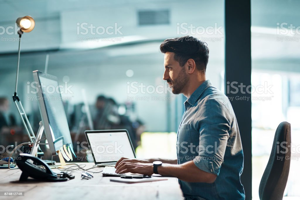 Success happens when you combine will with skill stock photo
