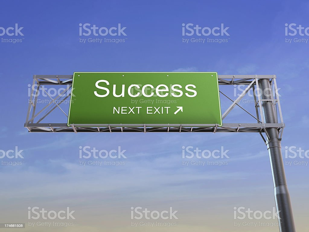 Success - highway sign royalty-free stock photo