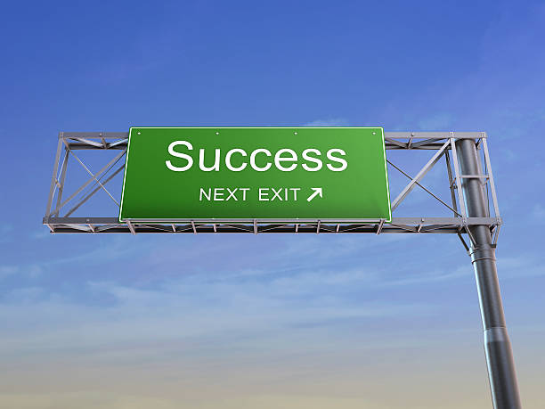 Success - highway sign stock photo