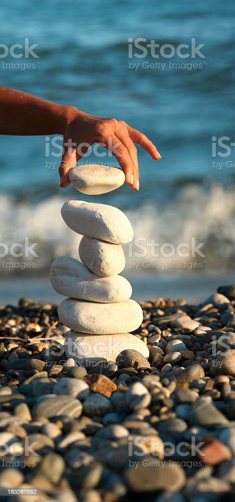 success in balance royalty-free stock photo