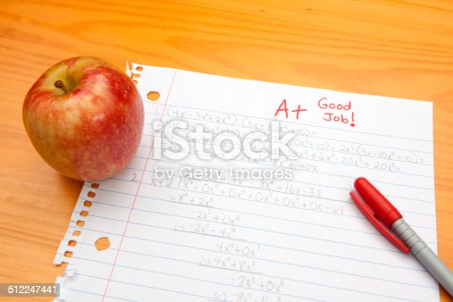 istock Success in Education: A+ on Algebra 512247441