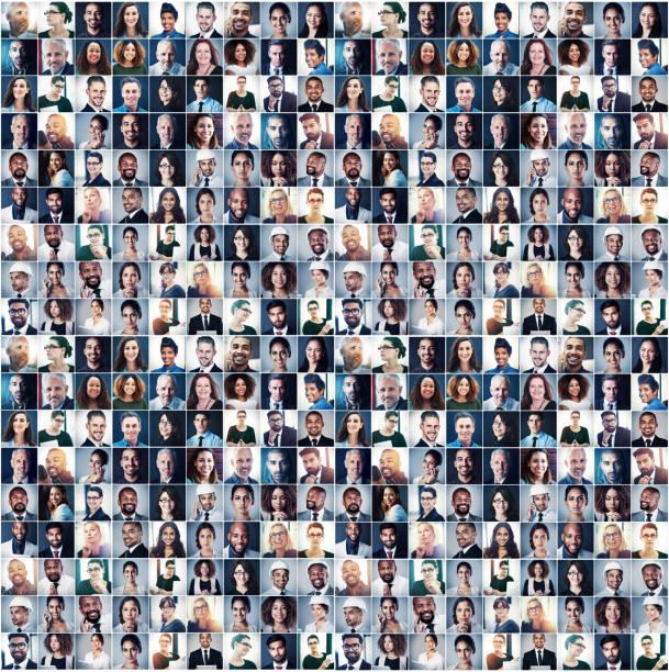 erfolg in jedem lächeln - große personengruppe stock-fotos und bilder