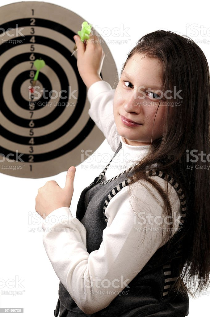 Success in hitting the target royalty-free stock photo