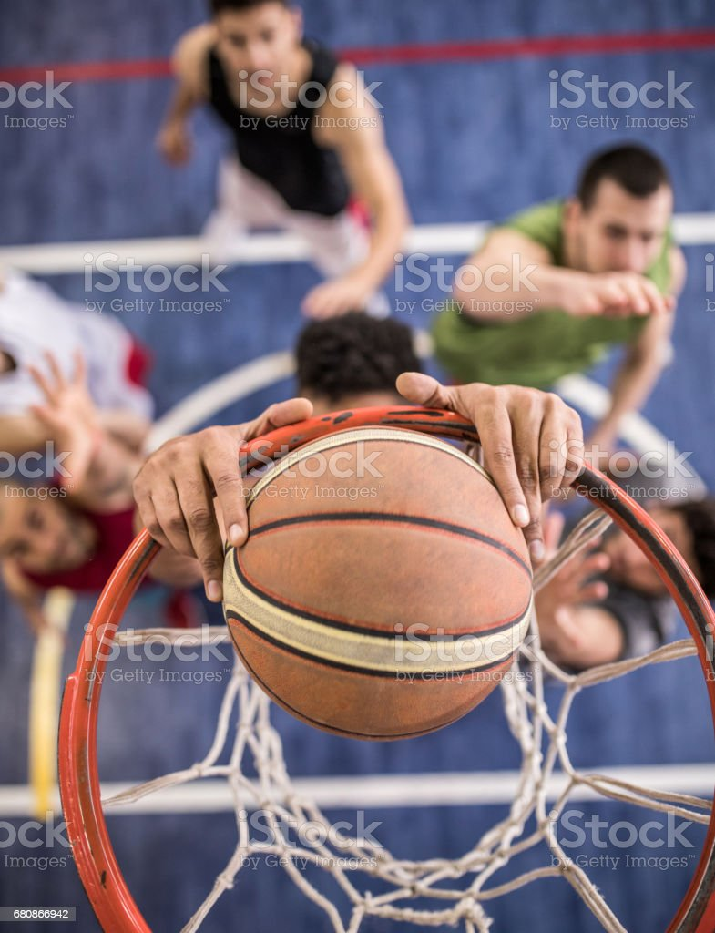 Success in slam dunk! stock photo