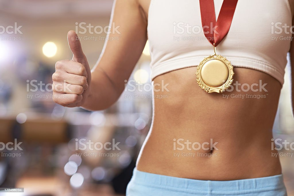 Success in sport royalty-free stock photo