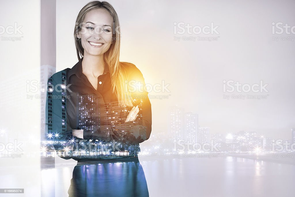 Success in the city stock photo