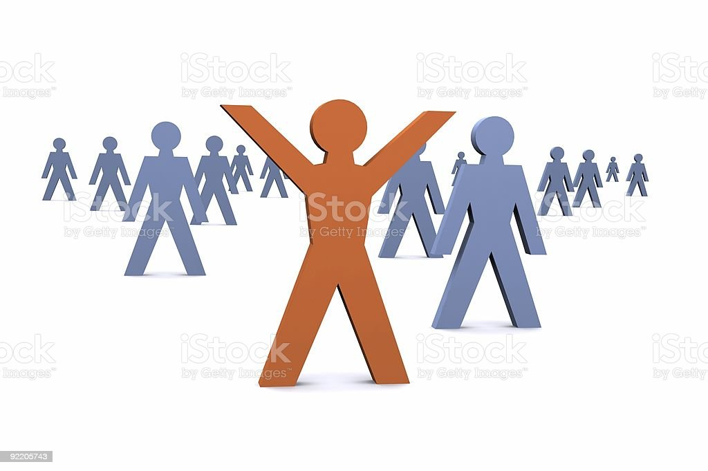 Success in the Crowd royalty-free stock photo