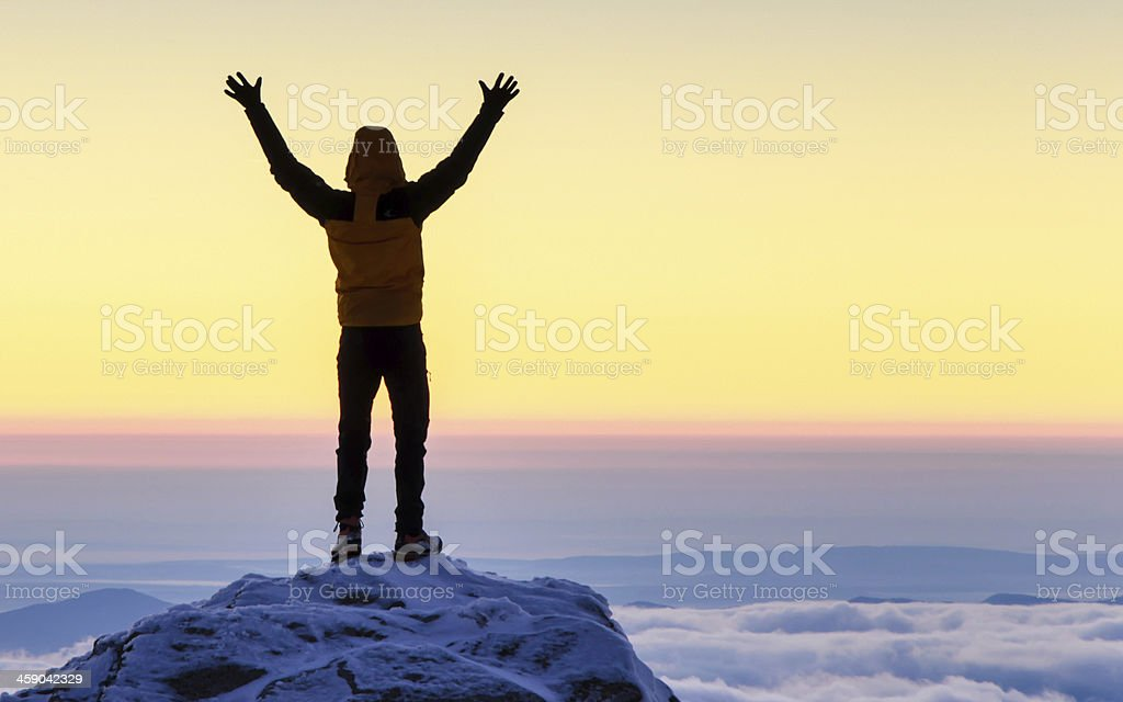success in the sunrise royalty-free stock photo