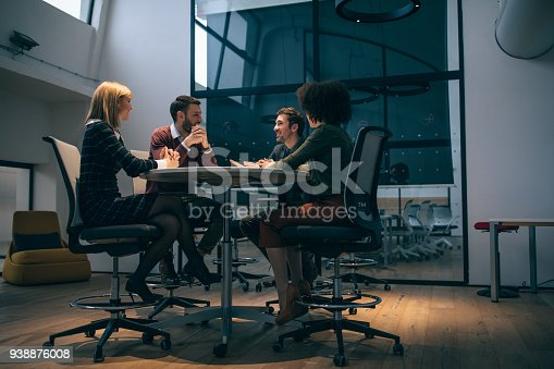 Shot of a group of coworkers during a meeting in an office