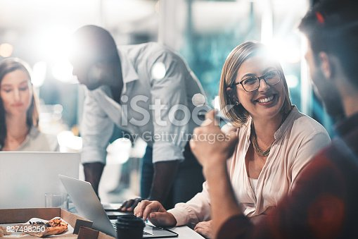 istock Success is a team task 827498250