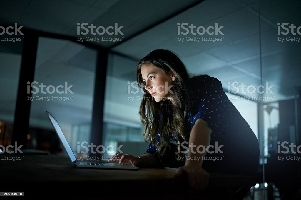 Success is all about the hours you put in stock photo