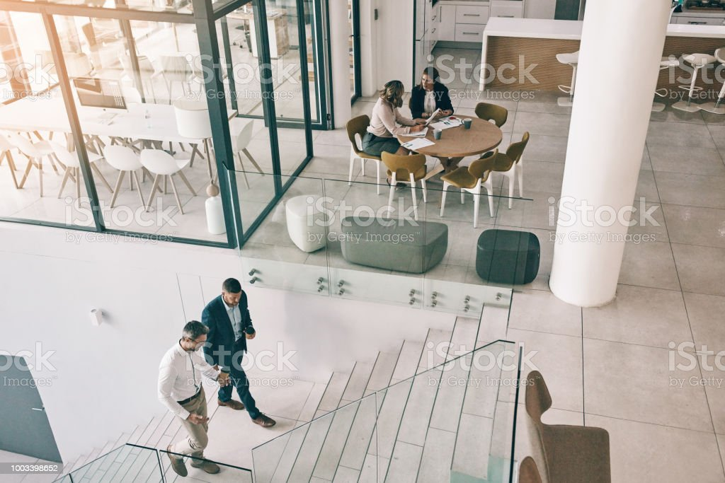 Success is all around this office stock photo
