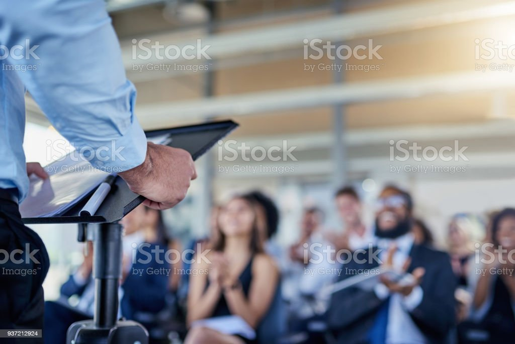 Success is always the main focus in their talks stock photo