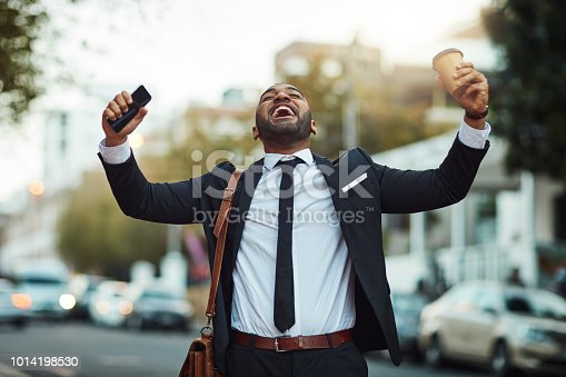 istock Success is just waiting to happen in the city 1014198530