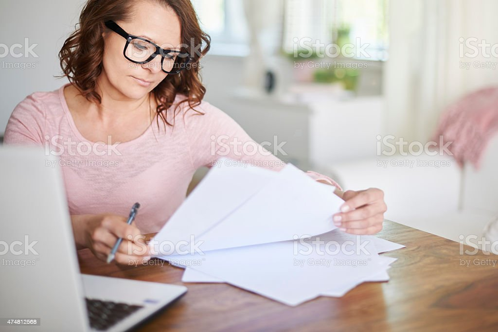 Success is the sum of our efforts and actions stock photo