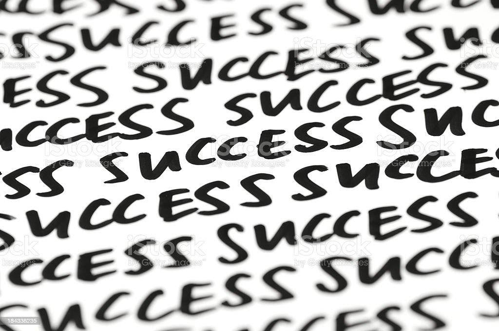 Success Message Handwritten Background royalty-free stock photo