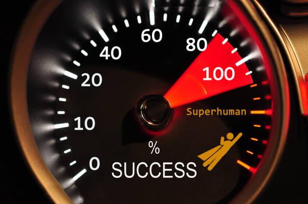 Success Meter stock photo