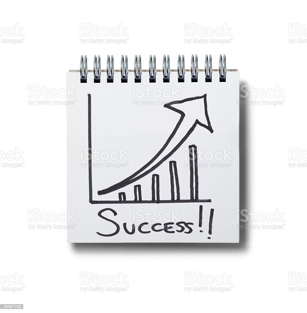 success! notepad. royalty-free stock photo