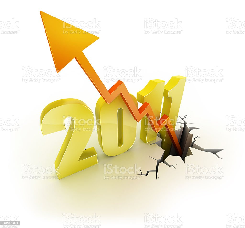 Success of 2011 royalty-free stock photo