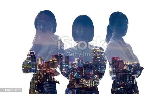 istock Success of business concept. Group of businesswoman. 1159740377