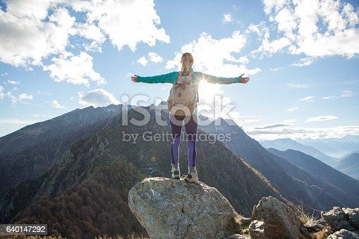 istock Success on mountain top 640147292