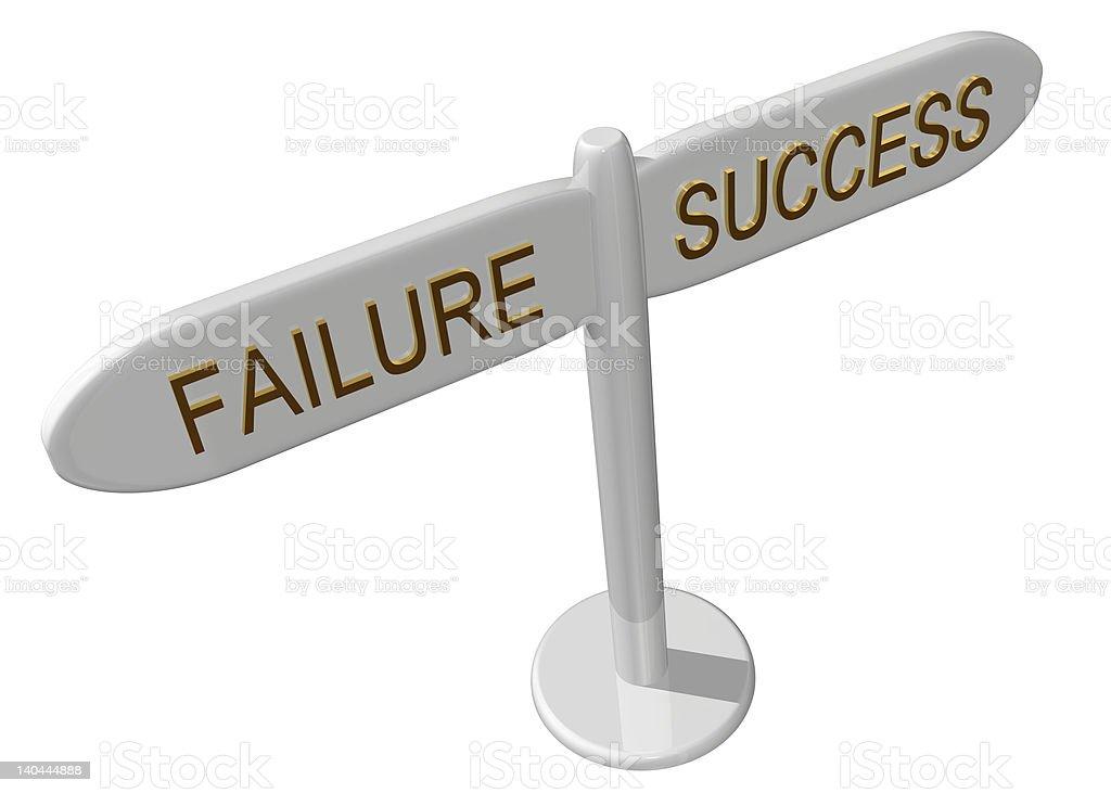 Success or failure stock photo