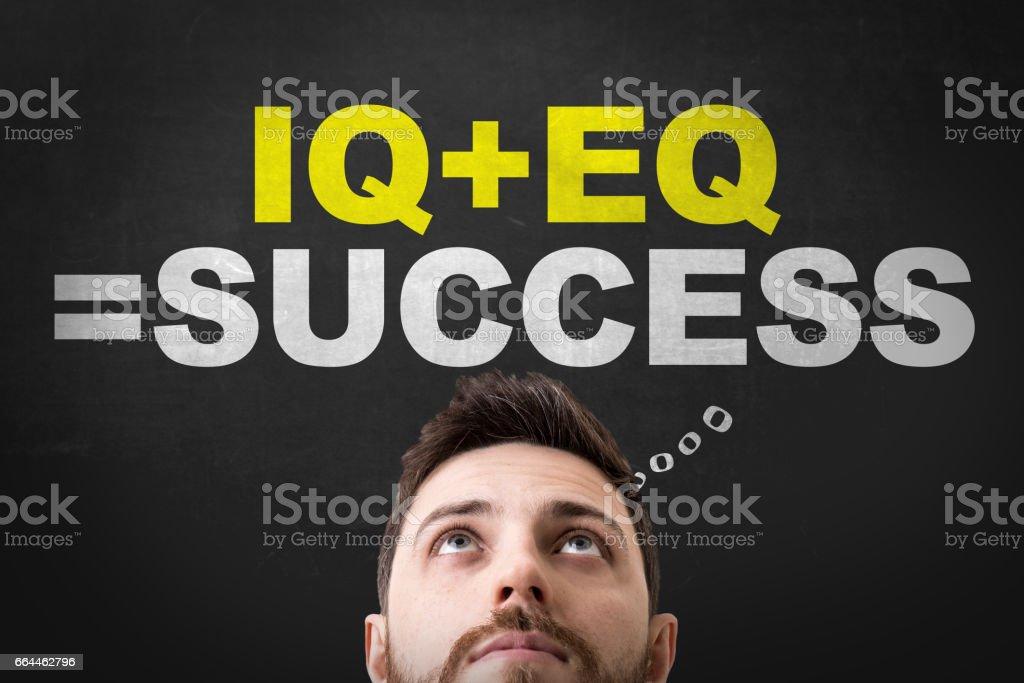 IQ + EQ = Success stock photo