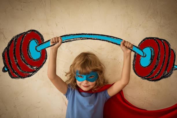 success - baby super hero imagens e fotografias de stock