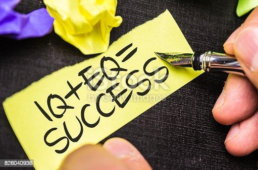 istock IQ + EQ = Success 826040936