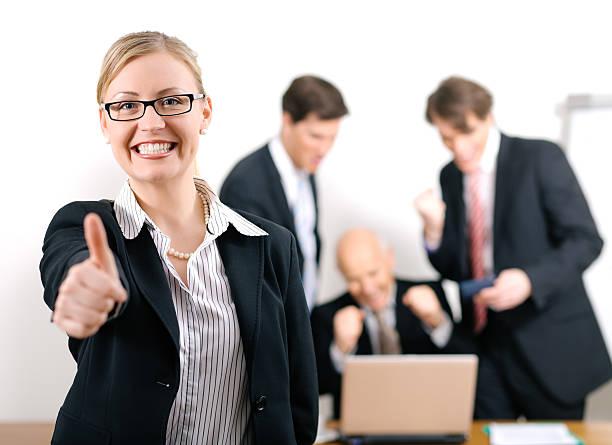 success - four lawyers stockfoto's en -beelden