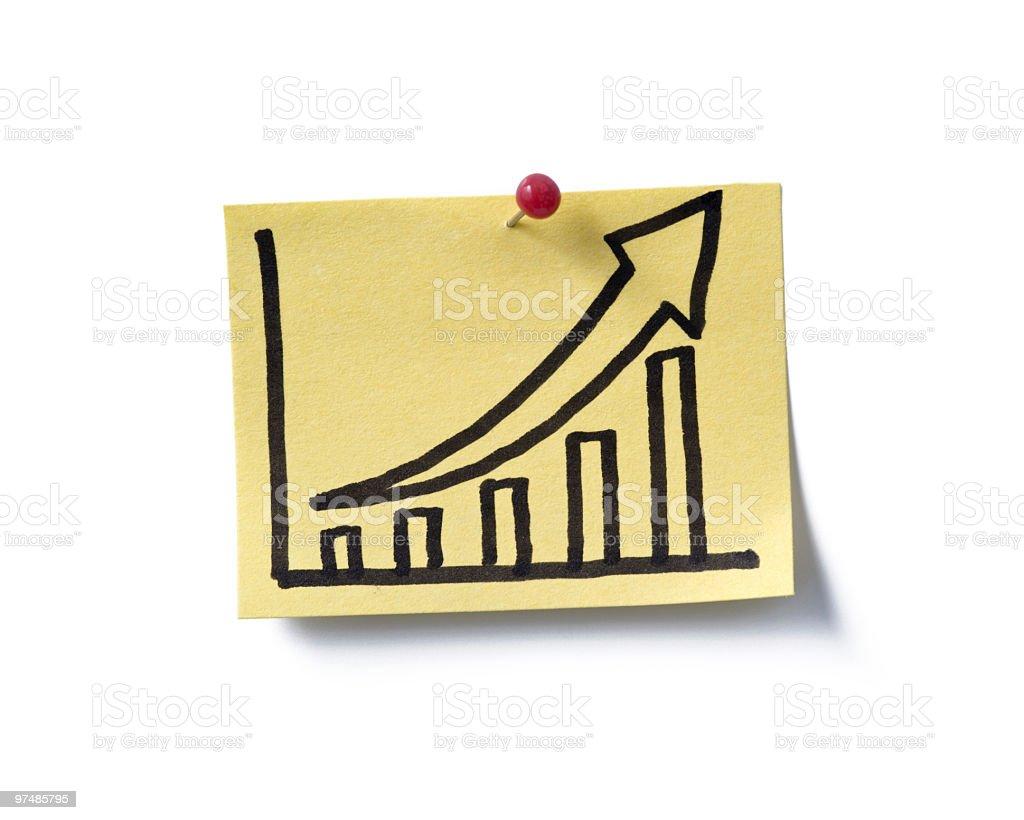 success!  post-it royalty-free stock photo