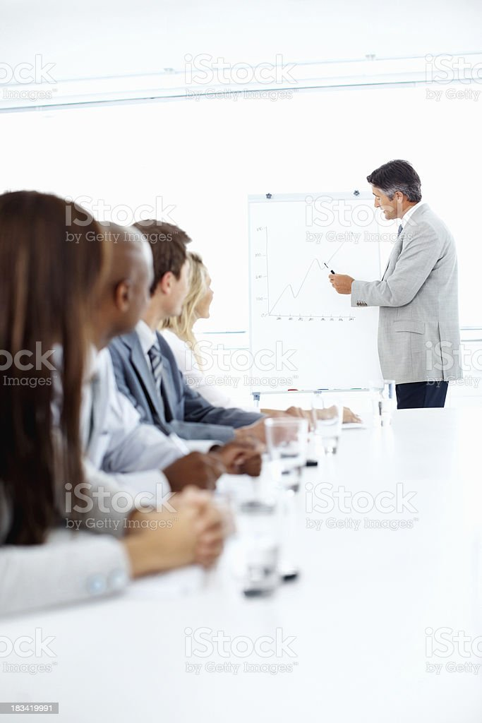Success presentation royalty-free stock photo