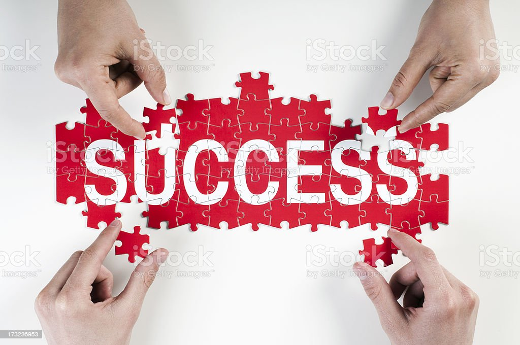 success puzzle stock photo