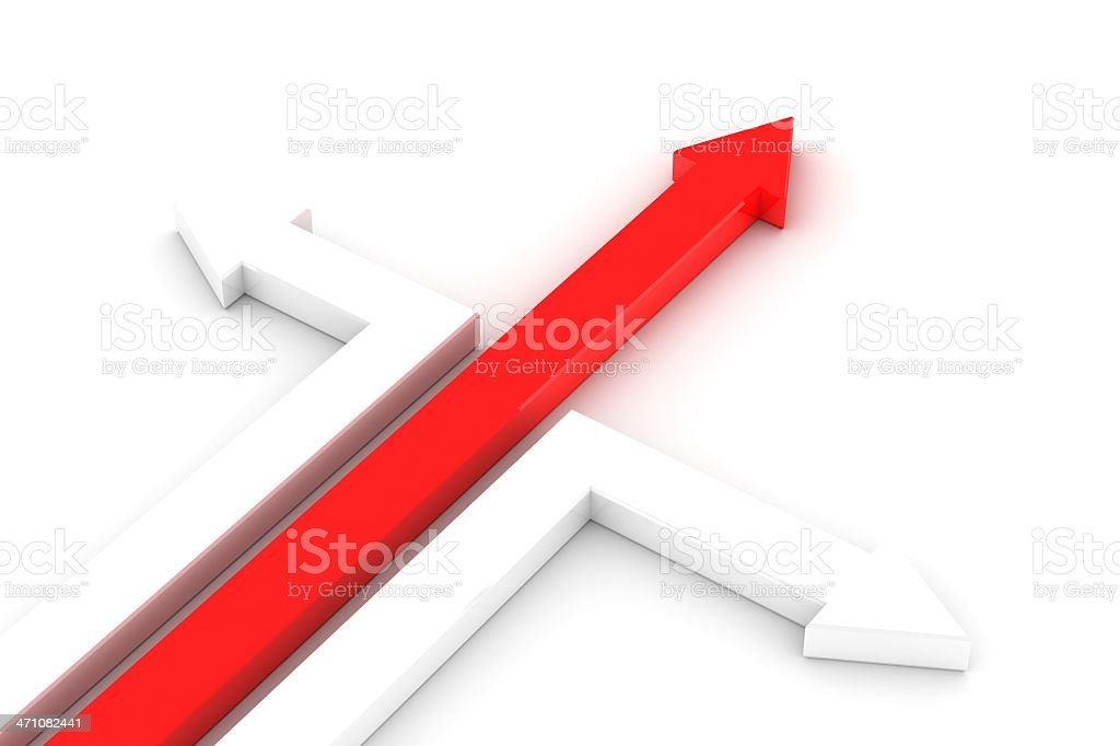 Success red arrow royalty-free stock photo