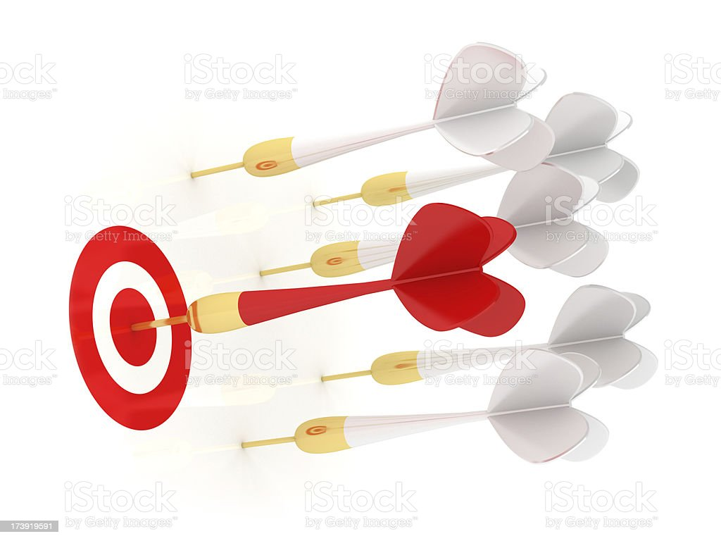 Success red dart royalty-free stock photo