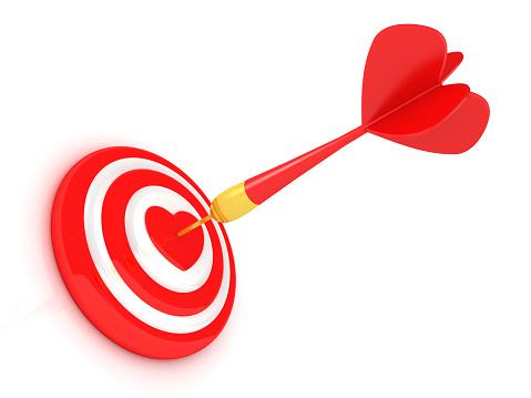 Success red dart