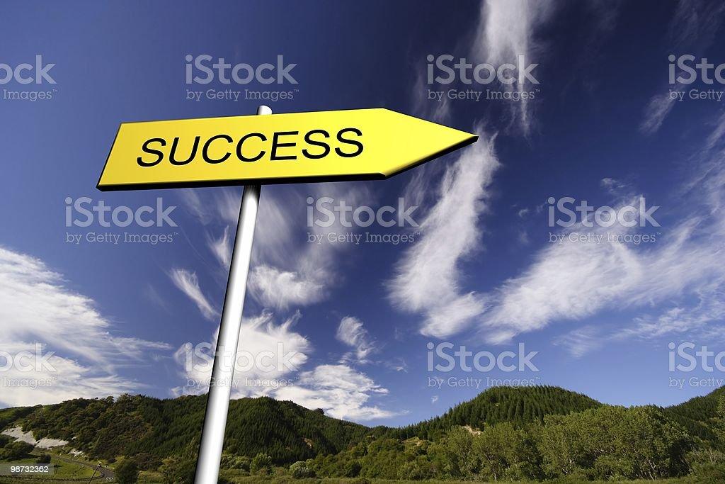 Success Sign 免版稅 stock photo