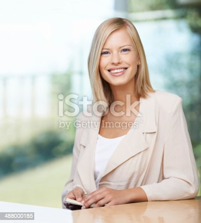 istock Success starts with a smile 488000185