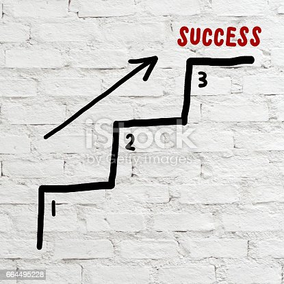 istock Success steps, business concept, abstract background 664495228