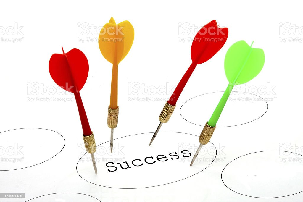 Success Target royalty-free stock photo