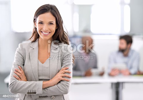 istock Success was always going to be her's! 484222033